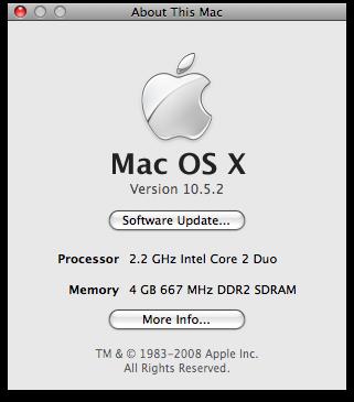 Mac with 4GB RAM installed