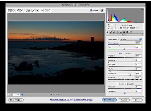 Adobe Camera Raw 4.0