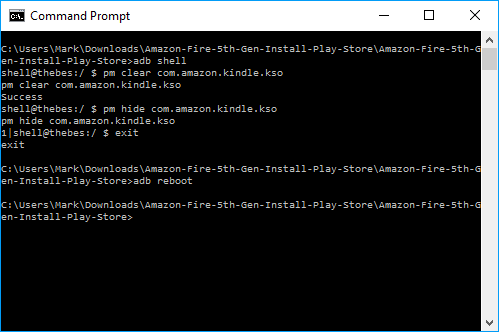 Commands to remove ads from Amazon Fire (via ADB)