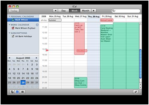 Multiple calendars in Apple iCal