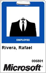 Spoof Microsoft staff identity pass