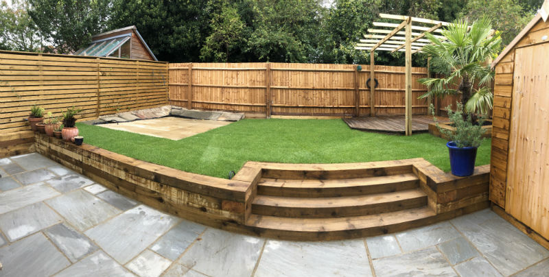 phase 1 of the garden completed