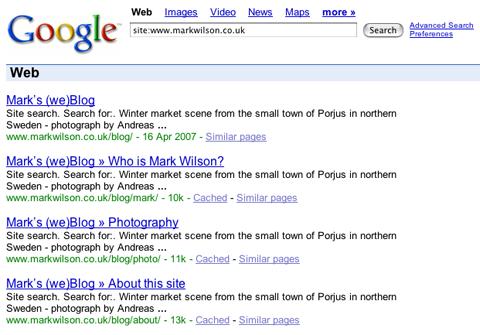Screenshot showing duplicate descriptions