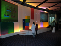 Playing games on the projectors after Google Developer Day 2008