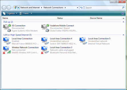 Hyper-V network connection example