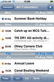 Multiple calendars in the iPhone Calendar application