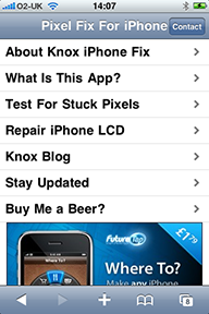 Pixel Fix application for iPhone