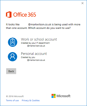 Which Microsoft account to use?!