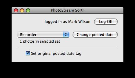 PhotoStream Sortr