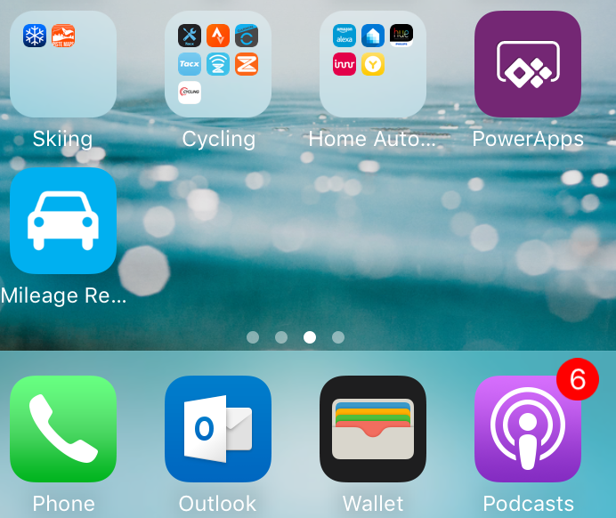 PowerApps/Mileage Recorder on iOS Home Screen