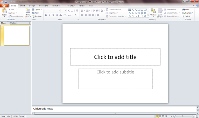 PowerPoint 2010 first look