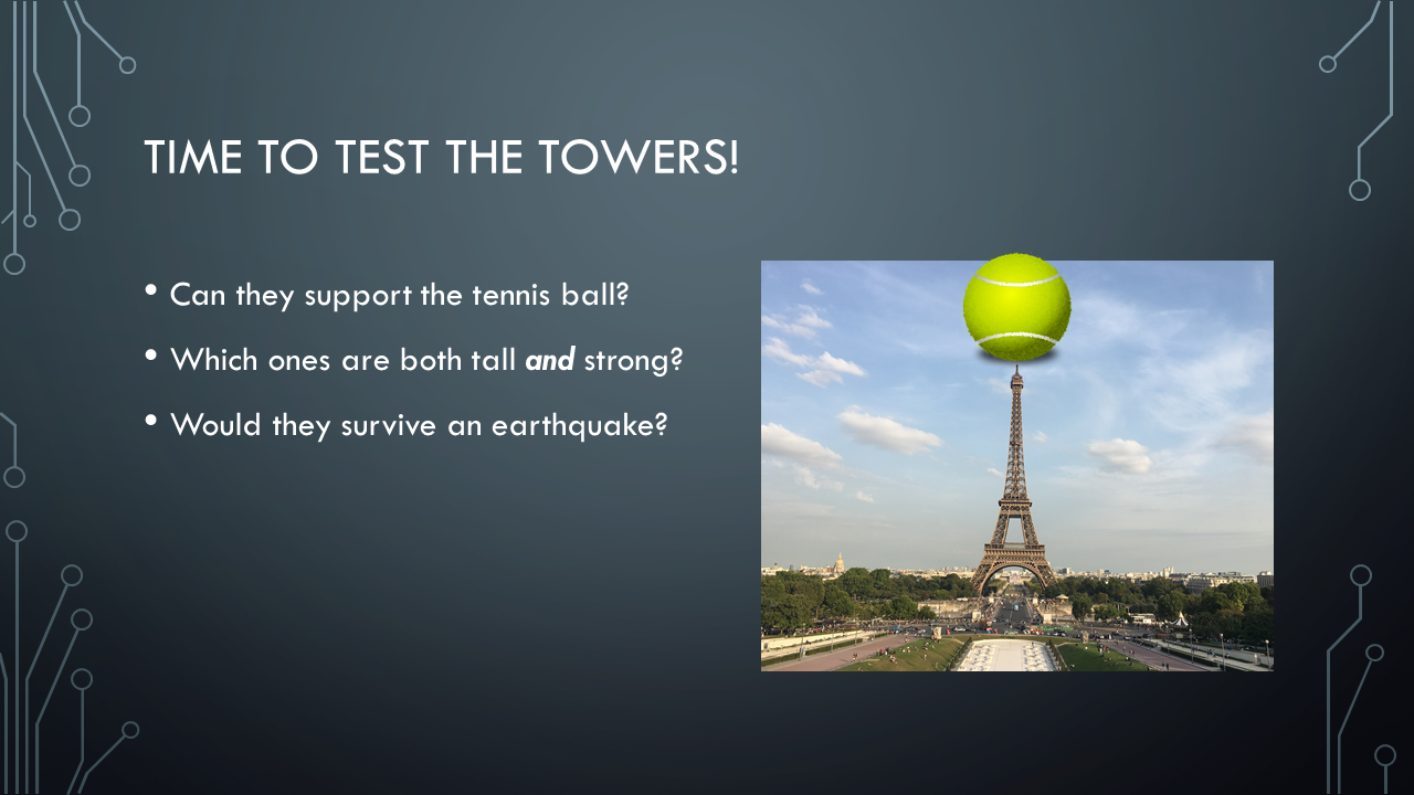 Time to test the towers